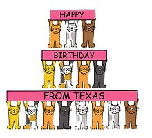 Cats Happy Birthday from Texas by KateTaylor