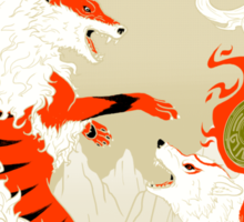 Great Wolves of Fire (Featured on Teefury) Sticker