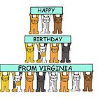 Cats Happy Birthday from Virginia. by KateTaylor