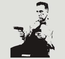Humphrey Bogart With Two Pistols T-Shirt by Museenglish