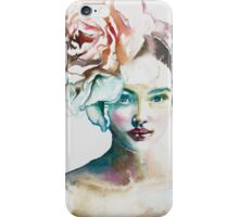 Colors inside - Watercolor cute girl face in different colors. iPhone Case/Skin