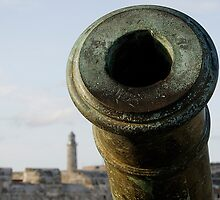 Cannon & El Morro lighhouse, Havana, Cuba by buttonpresser