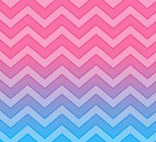 Pink And Blue Chevron Pattern Gradient by destei