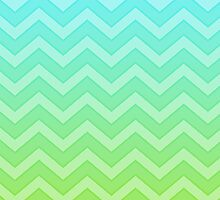 Blue And Green Chevron Pattern Gradient by destei