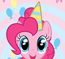 Pinkie Pie Birthday Card - Postcard My Little Pony by FalakTheWolf