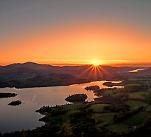 Sunset over Keswick by Roger Green