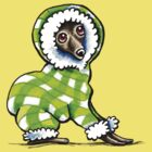 Italian Greyhound Happy Plaid Snowsuit by offleashart