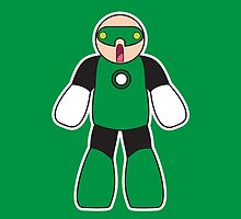 Little Big Green lantern phone case by Sam Weeks