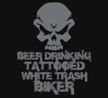 Beer Drinking Tattooed White Trash Biker by David Ayala