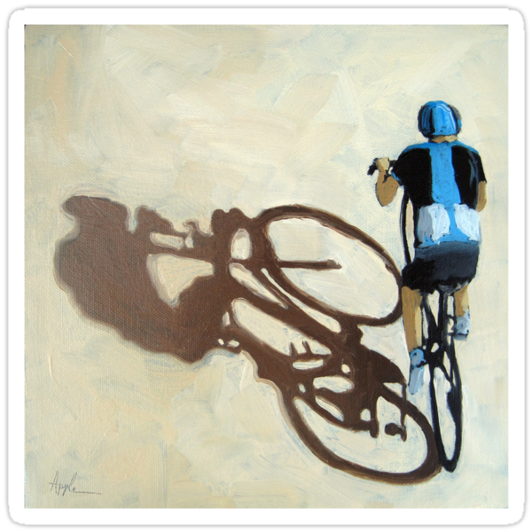 SIngle Focus - cycling art T-Shirt by LindaAppleArt