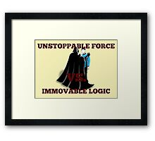 Force Choke Vs Death Grip Framed Print