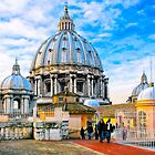 On God's Roof - Basilica San Pietro  by Mark Tisdale