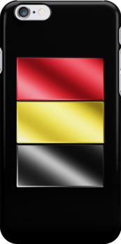 Belgian Flag - Belgium - Metallic by graphix