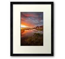 Just Then Framed Print