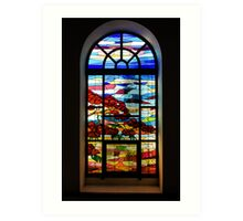 A Tale of Windows and Magical Landscapes - 2 Art Print