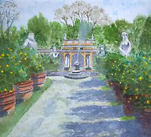 Oranges, Lucca.  by John Rees by HurstPainters