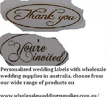 wedding labels by wholesalewed
