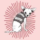 BAD dog – pink biker chihuahua by Jenny Holmlund