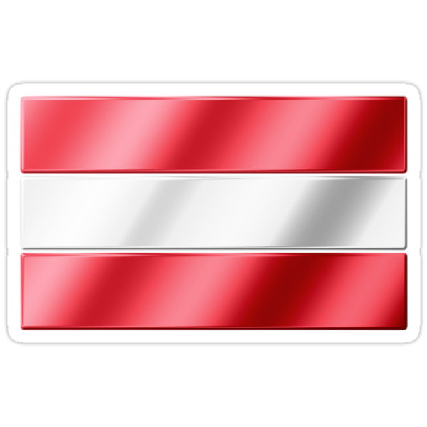 Austrian Flag - Austria - Metallic by graphix