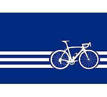 Bike Stripes White x 3 Photographic Print