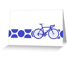 Bike Stripes King of the Mountains (Blue) Greeting Card