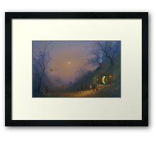 The Pumpkin Seller ( A Hobbits Halloween ). Framed Print
