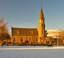 RHYNIE - NOTH PARISH CHURCH WITH SNOW by JASPERIMAGE