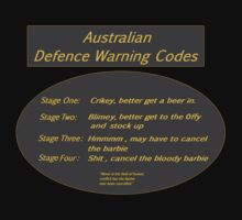 Australian Defence Warning Codes by Radwulf