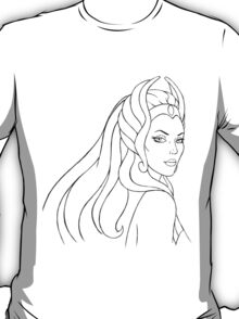 She-Ra Princess of Power (Black Line Art) T-Shirt