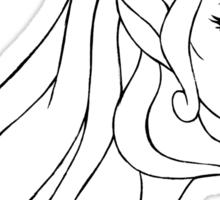 She-Ra Princess of Power (Black Line Art) Sticker