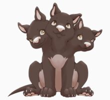 Cute cerberus puppy by Tunnelfrog
