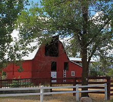 Red Barn ~ Cache Valley, Utah by Jan  Tribe
