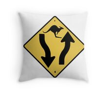 Kangaroo Sign - Urban Grunge Throw Pillow