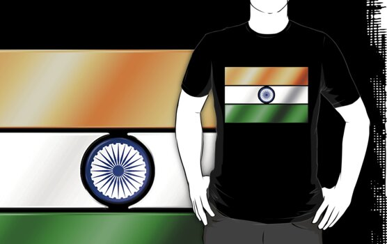 Indian Flag - India - Metallic by graphix