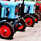 Tractors In-Line by Kasia-D