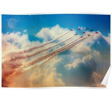 Red Arrows Smoke The Skies Poster