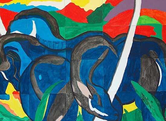 Franz Marc - Blue Horse  by William Martin