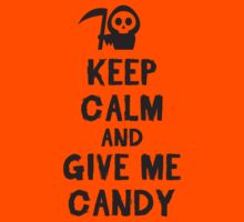 Keep calm and give me candy Kids Clothes