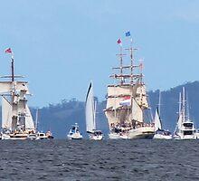 Tall Ships - leaving Hobart, Tasmania 25.9.2013 by gaylene