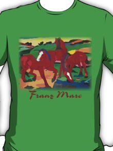 Franz Marc - Red Horses T-Shirt