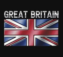 Great Britain - British Flag & Text - Metallic by graphix