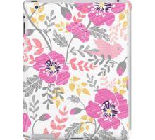 Pastel pink poppies pattern iPad Case/Skin
