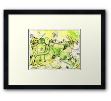 Prehistoric, out at Sea Framed Print