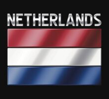 Netherlands - Dutch Flag & Text - Metallic by graphix