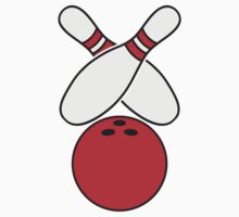 2 Bowling Pins And Bowling Ball by Style-O-Mat