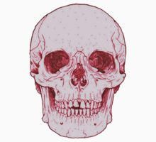 Tumblr Pink Human Skull by sadeelishad