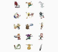 Random Weirdos #1 - Mini Sticker Set [15 count] by vigorousjammer