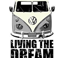 VW Camper Living The Dream Grey by splashgti