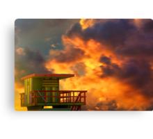 Miami Beach Sunset Canvas Print