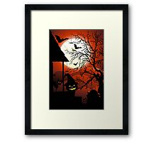 Halloween on Bloody Moonlight Nightmare Framed Print